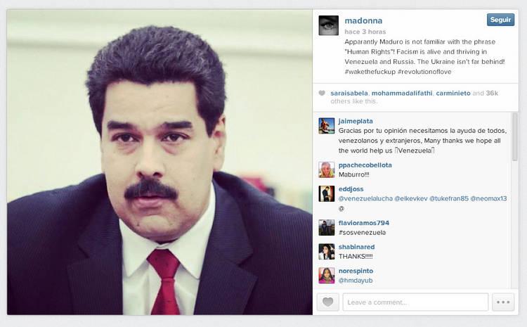 Madonna-Nicolas-Maduro-Instagram
