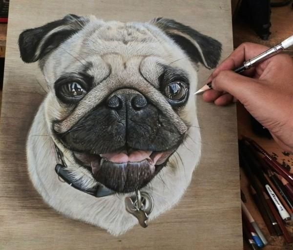 Ivan-Hoo-Realistic-Drawings-on-Wood-1-600x512