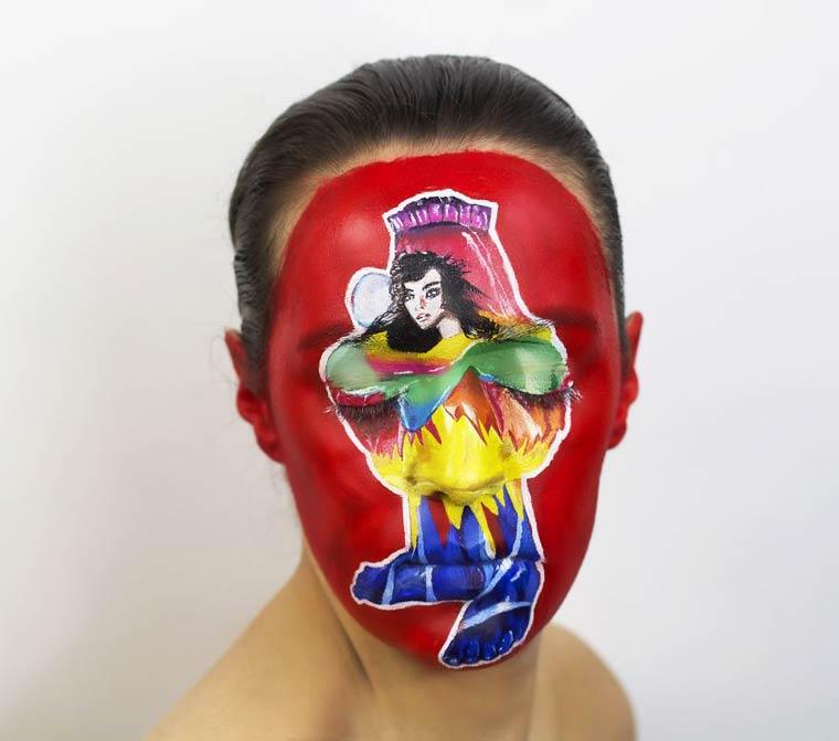 Natalie-Sharp-Album-Covers-body-painting-9