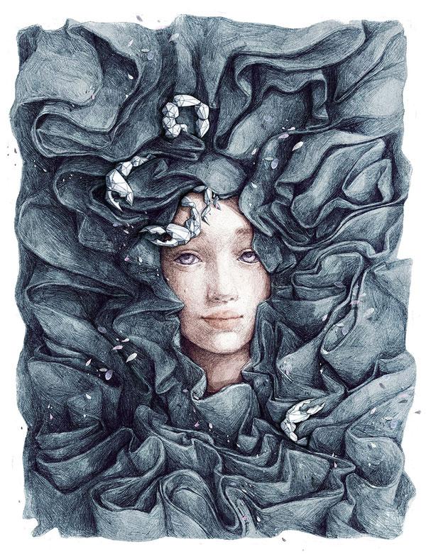 Scorpio-artwork-by-Vietnamese-illustrator-Tamypu