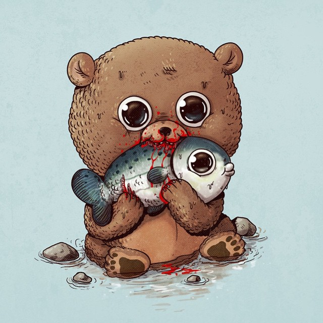 cute-disturbing-animal-cartoons-predators-and-prey-alex-solis-61