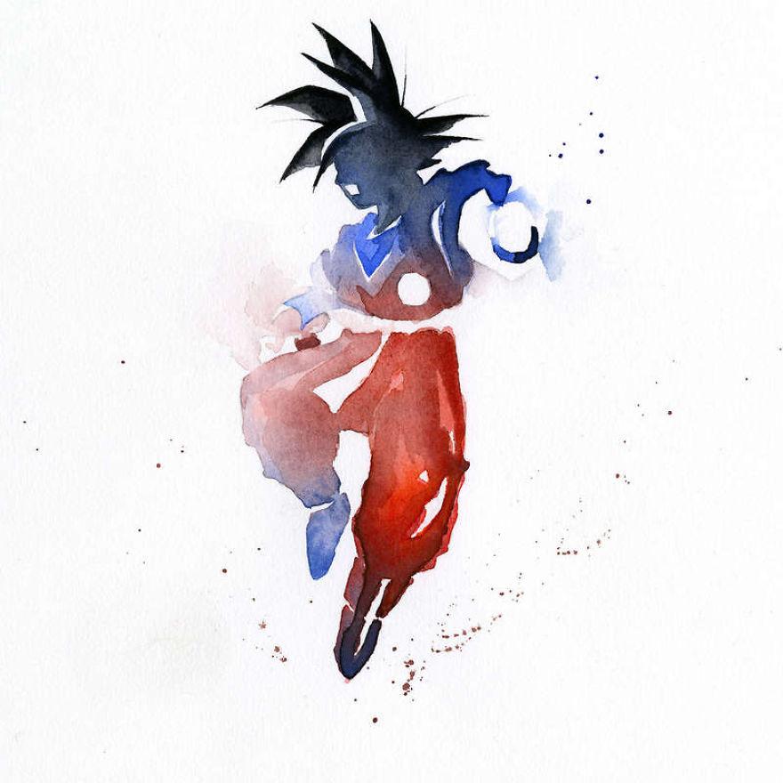 watercolor-super-heroes-paintings-clementine-campardou-blule-17