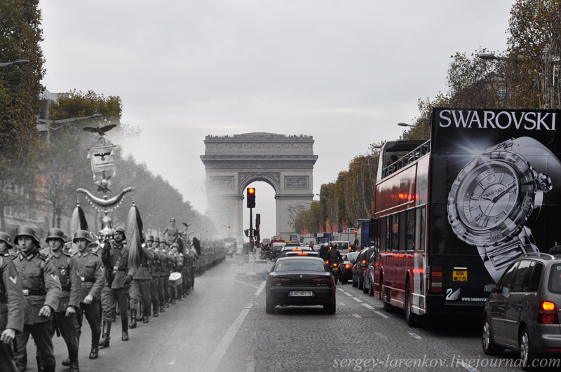 Paris-1940.-Parade-of-the-occupiers-on-the-Champs-Elysees