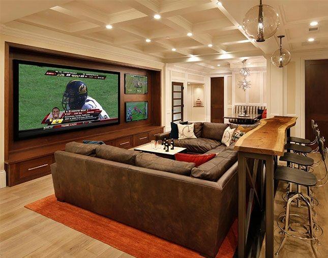 6 impresionantes cuartos de tv que son perfectos para los - Tv en habitacion ...
