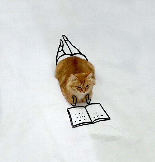 Too-Crazy-The-new-portrait-of-lovely-Cat-through-creative-drawing-of-young-people5__605