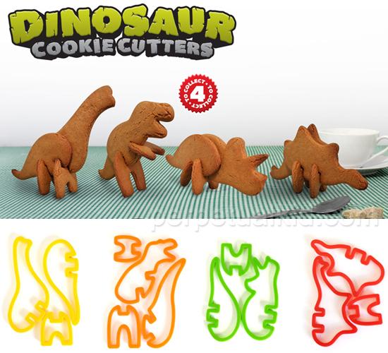 estos moldecitos para cortar galletitas en forma de dinosaurio en d intercambio de navidad