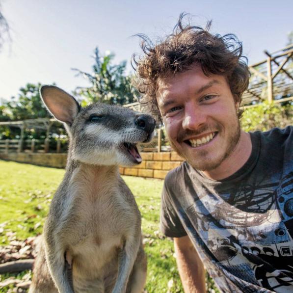 selfies con animales salvajes