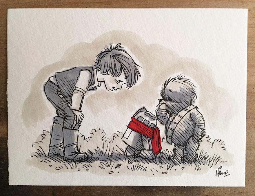 star-wars-characters-winnie-the-pooh-wookie-the-chew-james-hance-23
