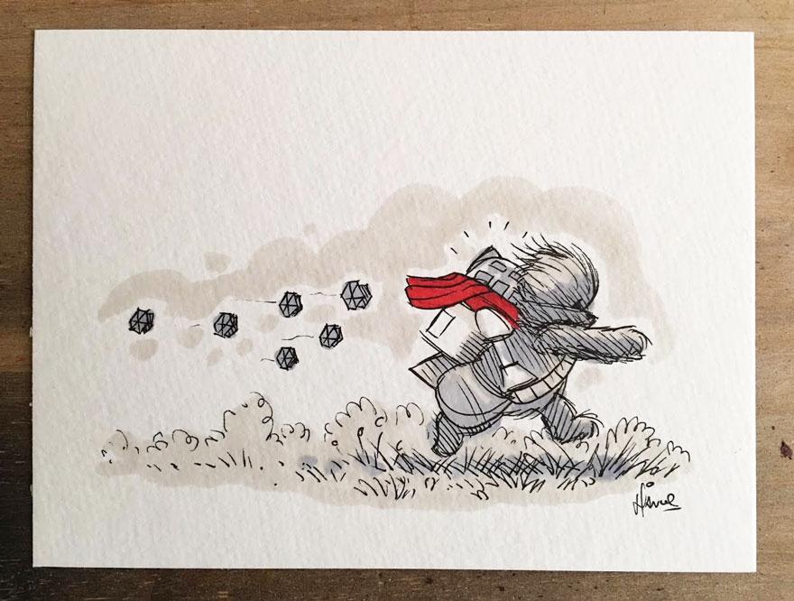 star-wars-characters-winnie-the-pooh-wookie-the-chew-james-hance-6