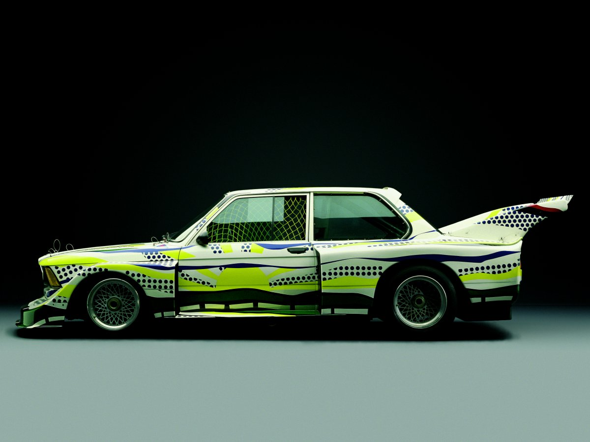 on-roy-lichetensteins-1977-320i-group-5-art-car-the-designs-are-supposed-to-represent-roads-sunlight-and-the-sky